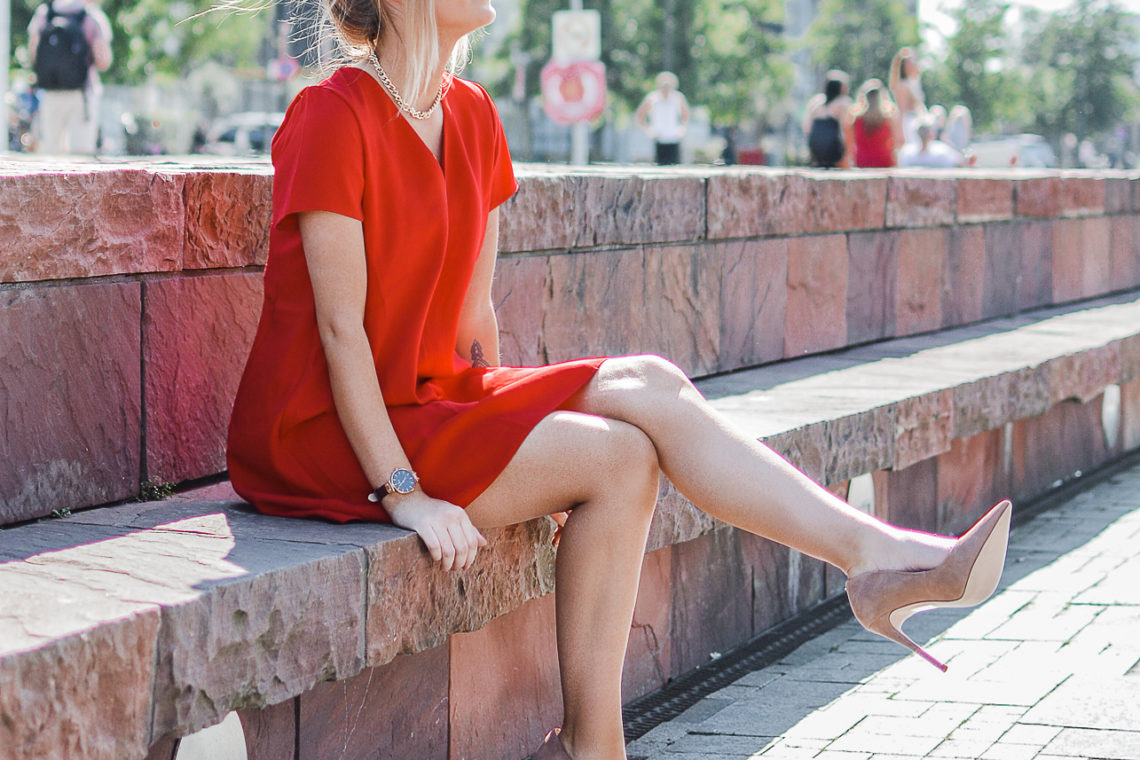 Outfit: Red Dress & High Heels